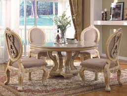 Round Dining Table Sets For 6 Valencia Antique Style Round Table Dining Room Set Round Dining