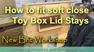 How To Make A Wooden Toy Box With Slide Top by Keyboard Cabinet Fitting Toy Box Lid Stays Youtube