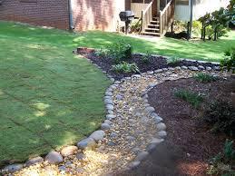 River Rock Garden Ideas Modern Home Office Design Only Landscaping - Backyard river design