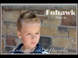 Fohawk Hairstyles Fohawk Hairstyle Tutorial Youtube