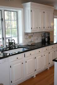 Kitchen Ideas With White Cabinets White Cabinets Black Countertops And That Faucet Home