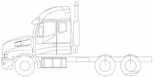 Old Ford Truck Coloring Pages - semi truck drawing outline marycath info