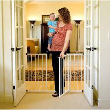 Pressure Mounted Baby Gate Regalo Easy Open 50 Inch Wide Baby Gate Pressure Mount With 2
