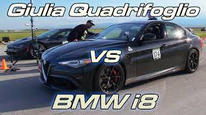 Bmw I8 Jeep - can a bmw i8 keep up with an alfa romeo giulia quadrifoglio