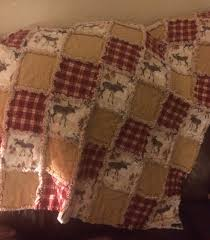 love how this moose rag quilt turned out flannel rag quilt