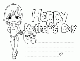 happy mother u0027s day card 1 coloring page for kids coloring pages