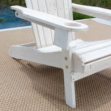 pelican hill wood adirondack patio chair with pull out ottoman