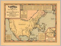 Map For United States by This Map Presents A Bostonian U0027s Idea Of The United States Of