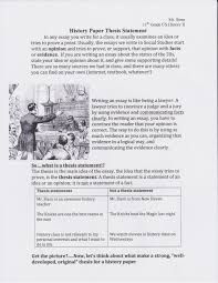 Writing a Strong Thesis Statement CSUS  Mla In Text Citation Worksheet Answers Intrepidpath Mla Es Worksheets The Best And Most