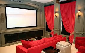 Amazing Home Interior Interior Luxurious Small Home Theater With Decorative Wallpaper