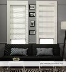 decorating elegant windows decor idea with white wood blinds