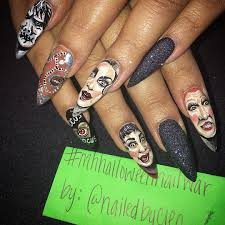 hocus pocus halloween nail art popsugar beauty