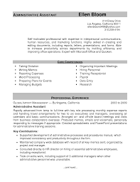 Executive Assistant Job Resume by Resume Samples Administrative Assistant Resume For Your Job
