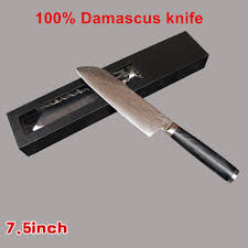 online buy wholesale chef knives brands from china chef knives findking brand 7 5 inch damascus knife chef knife vg 10 71 layers japan damascus steel