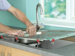 How To Open Kitchen Faucet by How To Install A Kitchen Sink In A Laminate Or Wood Countertop