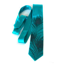 Silk Peacock Home Decor by Teal Blue Peacock Tie Peacock Feather Men U0027s Silk Necktie