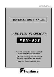 fujukura fsm 50 s manual