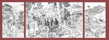 Mural Painting Sketches by Bristlecone Pines The Art Of Larry Eifert