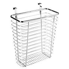 amazon com interdesign axis over the cabinet wastebasket trash