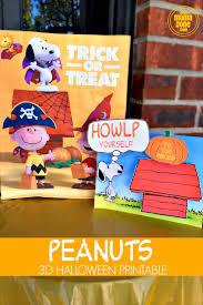 Printable Halloween Bags Printable Peanuts Halloween Craft U0026 Free Trick Or Treat Bags