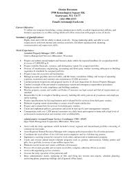 Resume Job Duties Examples Sample Resume For Assistant Manager Administrative Assistant