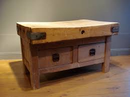 sold 19th century french butcher block table antique tables