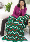 Zigzag Christmas Throw and Pillow | FaveCrafts.