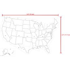 United States Map by Shop Stencil Ease 29 U0027 X 19 U0027 United States Map Stencil At Lowes Com