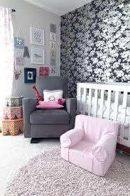 glider rocking chair nursery contemporary with accent wall floral