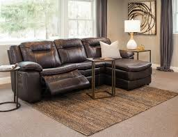leather sectional sofa recliner superb leather reclining sectional in living room modern with