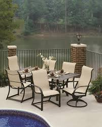 Menards Wicker Patio Furniture - modern style deck ideas with black aluminum high back chair