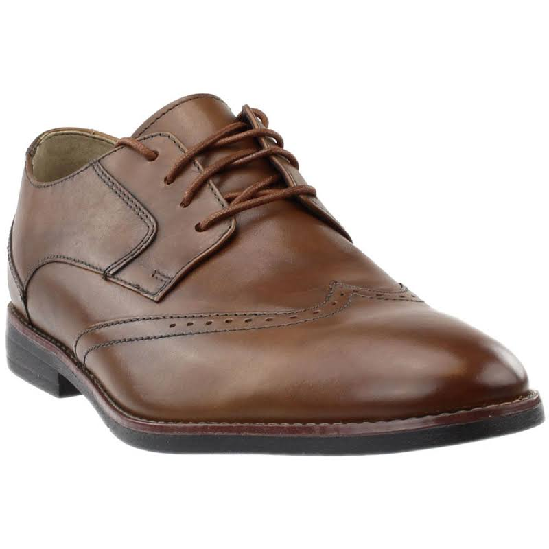Clarks Bostonian Yorkton Wing Dress Shoes Tan- Mens