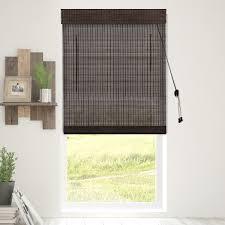 chicology bamboo roman shades woven wood window blind bamboo