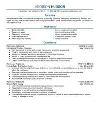 Examples Of Resume Cover Letters Generic Examples by Resume Examples For Warehouse Warehouse Supervisor Resume Sample