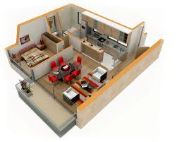 One Room Apartment Floor Plans 25 One Bedroom House Apartment Plans