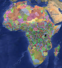 Sub Saharan Africa Physical Map by A Fascinating Color Coded Map Of Africa U0027s Diversity Vox