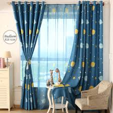 aliexpress com buy cartoon blue planet star curtains for kids