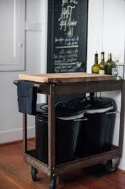 Kitchen Mobile Island Mobile Kitchen Island With Trash Can Portable Kitchen Island