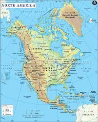 Canada On The Map by North America Map Map Of North America