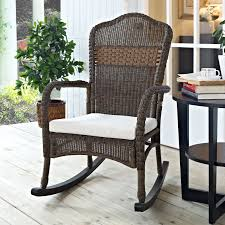 White Resin Wicker Outdoor Patio Furniture Set - furniture wicker lowes rocking chairs with white cushions and