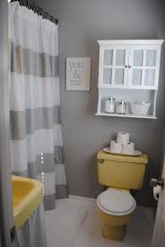 Mosaic Bathroom Ideas Space And Grey Wall Paint Plus White Cabinet Color Above Yellow