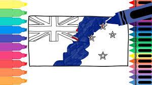 draw zealand flag draw flag zealand