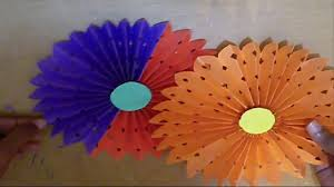 Flowers Home Decoration Diy Paper Crafts How To Make Simple Paper Rosettes Spring Flowers