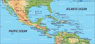 Map Of America With States by Political Map Of Mexico Central America And The Caribbean You