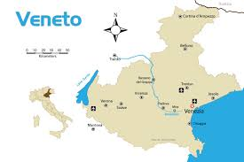 Map Of Italy Regions by Veneto Region Of Northern Italy Tourist Map With Cities