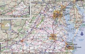 Vegas Monorail Map Detailed Map Of Virginia Virginia Map