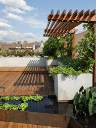 Rooftop Garden Ideas Roof Garden Terrace Design With Wooden Floor Make Modern Terrace