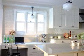Glass Subway Tile Backsplash Kitchen Kitchen Simple Kitchen Backsplash Design With White Ceramic