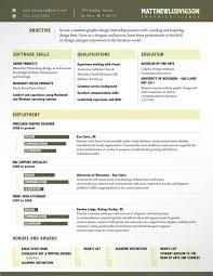 Example Resume  Sample Creative Resume Simple Resume Design     Binuatan     Example Resume  Education And Software Skills For Adobe Products And Microsoft Office Or Freeland Graphic