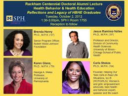 Dr  Carla Featured Alumni Speaker at University of Michigan     HBHE lecture flyer